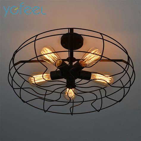 retro ceiling fan with light ygfeel ceiling lights vintage retro industrial fan ls