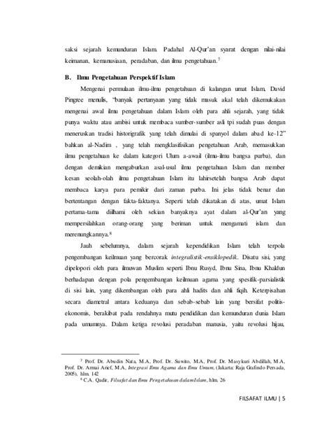 Cara Menulis Makalah Filsafat S Stramel integrasi ilmu pengetahuan dan islam perspektif filsafat