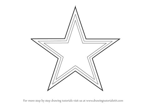 Learn How To Draw Dallas Cowboys Logo Nfl Step By Step Dallas Cowboys Logo Coloring Pages Printable