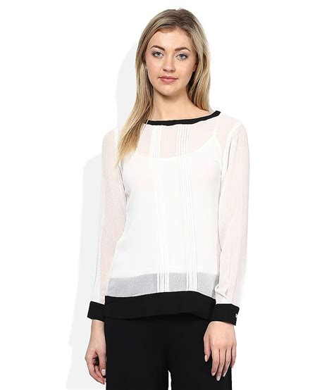 Black And White Top 1 and white black sheer top buy and white black sheer top at best prices in india on
