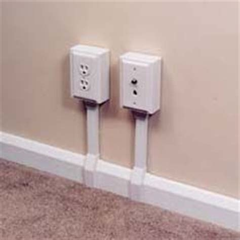 baseboard conduit wire and outlets on