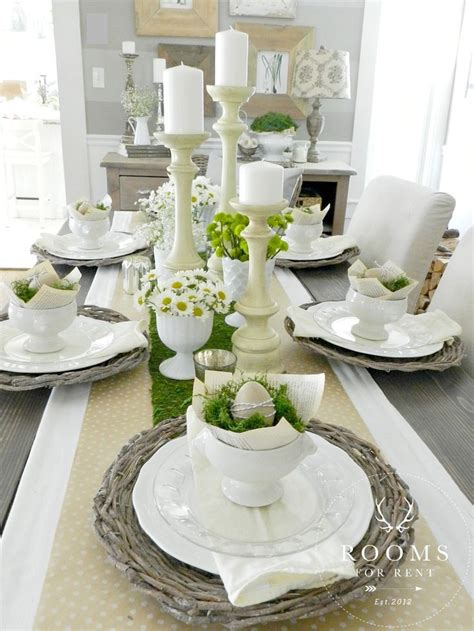 Dining Table Settings Decorations by 17 Best Ideas About Easter Table Decorations On