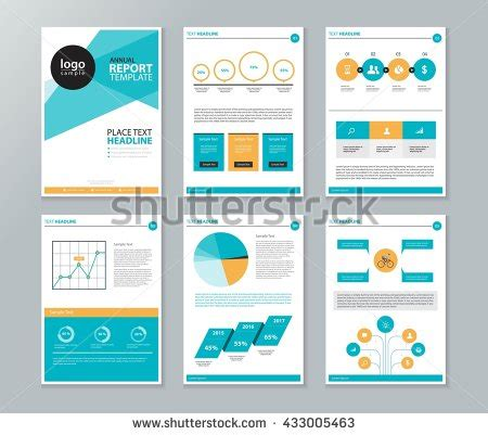 design elements report page layout company profile annual report stock vector