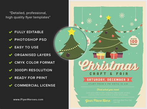 Christmas Fair 2017 Flyer Template Flyerheroes Fair Flyer Template