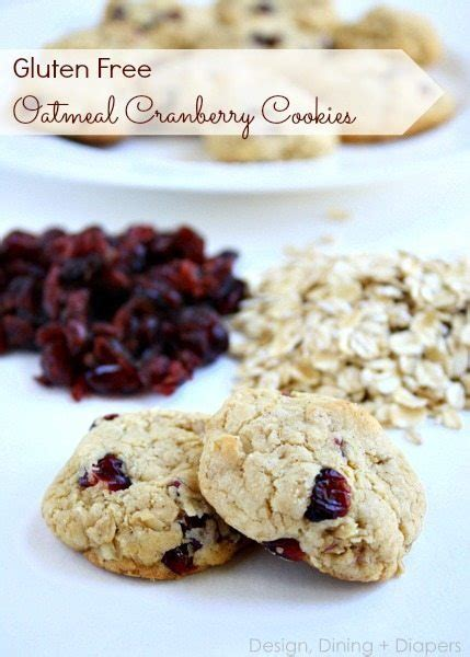 gluten free oatmeal cranberry cookies design dining diapers cherished bliss