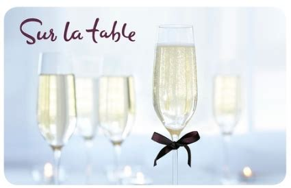 sur la table gift card giveaway 25 giftcard to sur la table giveaway