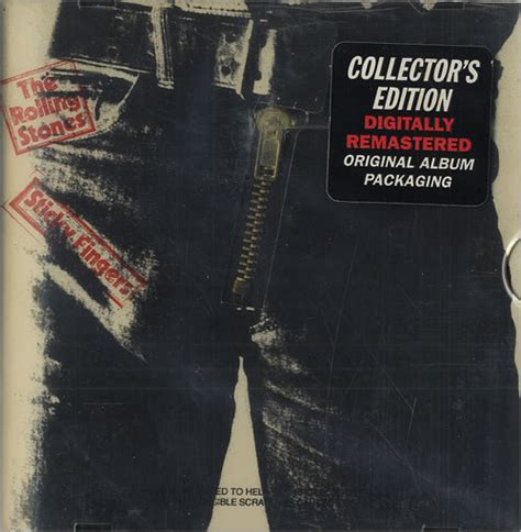Lp Zipper Abu Limited rolling stones sticky fingers remastered collectors edition uk cd album cdlp 35414