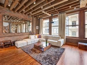 wood brick add traditional design in luxurious soho loft