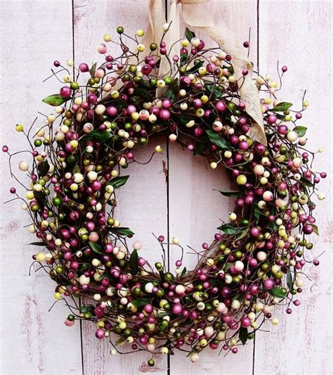 how to make a spring wreath for front door spring wreaths rustic lavender berry door wreath spring