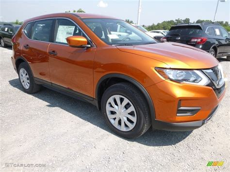 2017 Monarch Orange Nissan Rogue S Awd 122267009 Photo