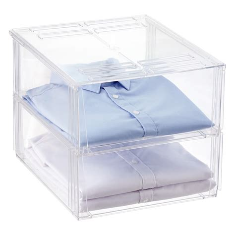 Bins Blouse premium stackable shirt sweater bins the container store