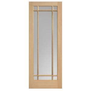 solid wood interior doors home depot masonite 30 in x 84 in prairie maple veneer 9 lite solid