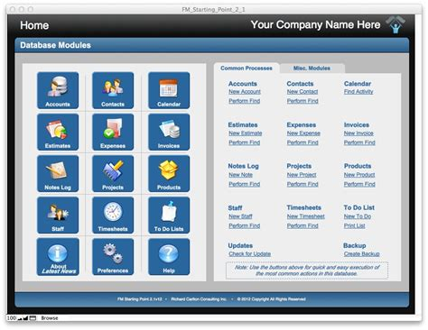 filemaker crm template free filemaker pro starter solutions apps run