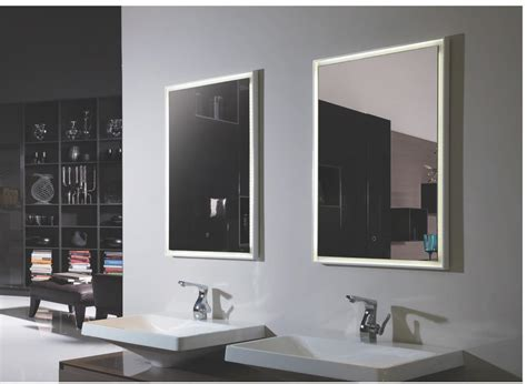 lighted mirrors for bathroom fiori ii lighted vanity mirror led bathroom mirror