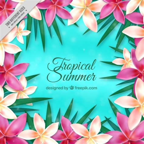 fiori realistici realistico fiori esotici sfondo scaricare vettori gratis