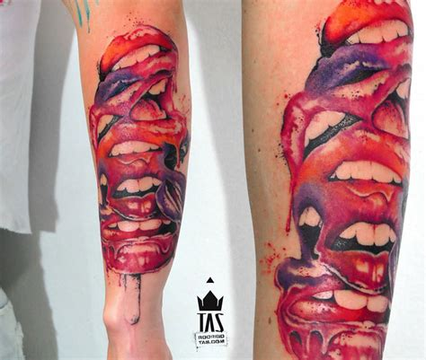 red lips tattoo popsicle forearm tatt best design ideas