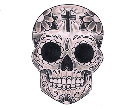simple day of the dead skull www pixshark com images galleries with a bite