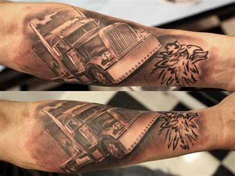 trucker tattoos 11 best semi images on semi trucks big