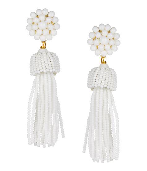 White Earring tassel earrings white lisi lerch
