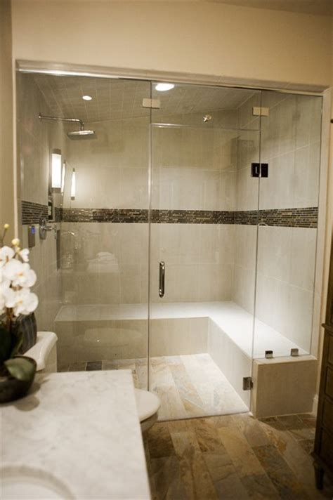 Steam Shower Contemporary Bathroom Dc Metro By Bathroom Steam Room Shower