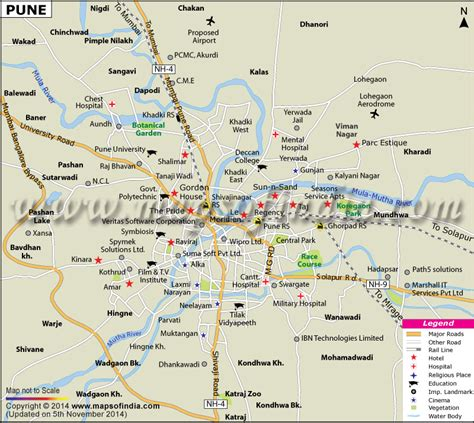 pune map maharashtra city information and facts