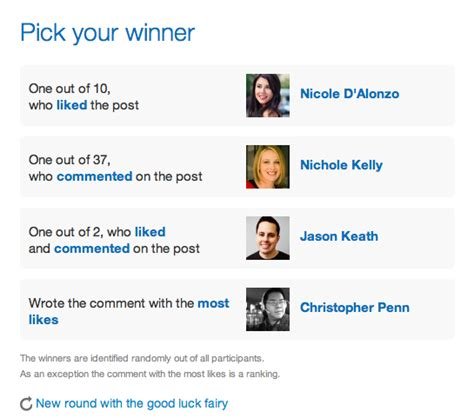 Facebook Giveaway Picker - how to pick contest winners from likes on a facebook post