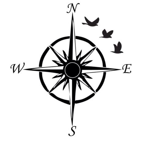 simple compass tattoo clipart best