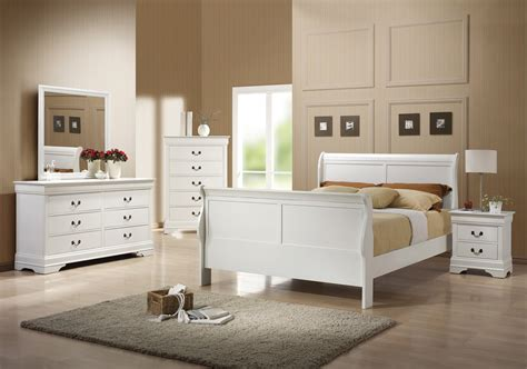 louis philippe bedroom set coaster louis philippe bedroom collection white 204691 bed set homelement com