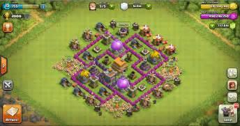 Thropy base clash of clans th 6 design base clash of clans terbaik