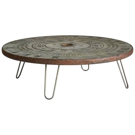 1960s metal coffee table with hairpin legs for sale