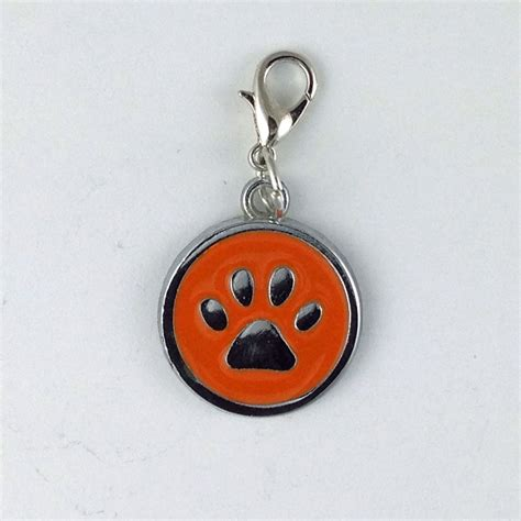 small paw print charms overnight pet tags