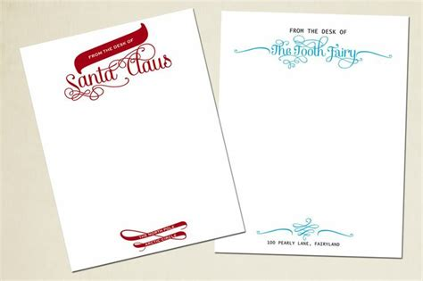 tooth stationery template santa letterhead tooth letterhead terry at sassy