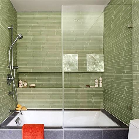 glass tile for bathrooms ideas bhg centsational style