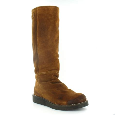 bronx bronx 13285 womens suede leather knee high pull up