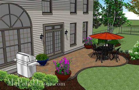 Affordable Patios by Curvy And Affordable Patio Design Downloadable Plan