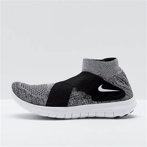 Sepatu Nike Free Rn Motion Flyknit 2017 Grey White Abu Putih nike free rn motion flyknit 2017 black white