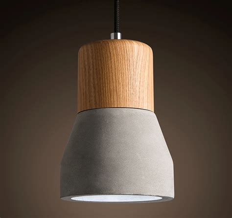 concrete ceiling lighting concrete pendant light b