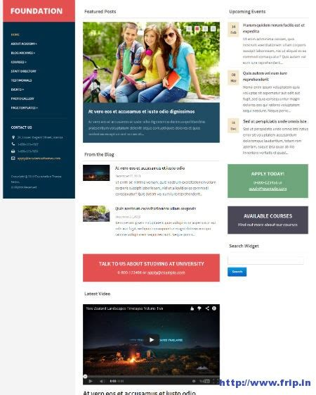 theme wordpress with foundation 35 best education wordpress themes 2014 for colleges