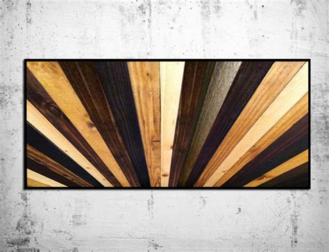 Handmade Wooden Headboards - handmade wood sunburst headboard