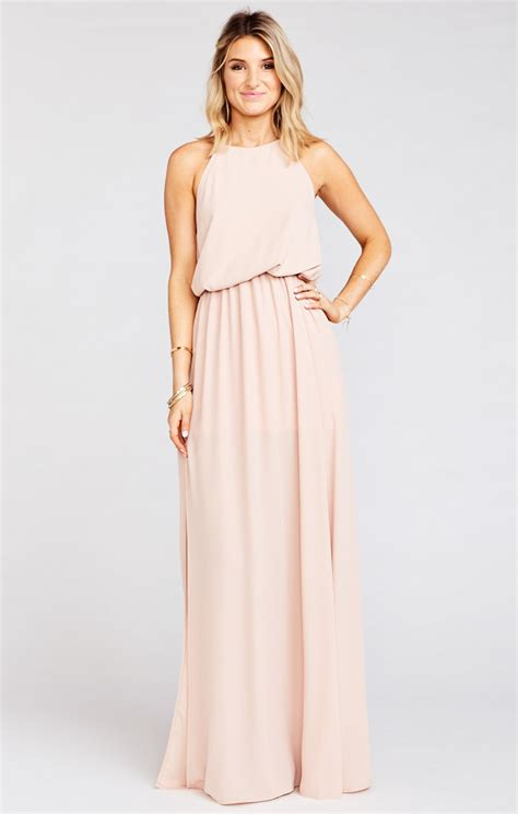Dress Dusty by Halter Dress Dusty Blush Show Me Your Mumu