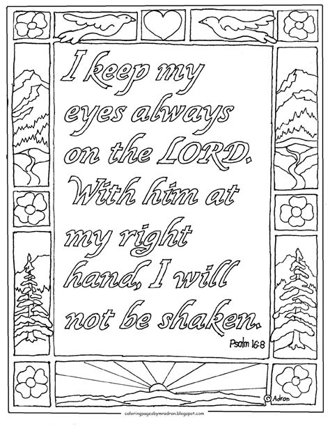 coloring page psalm 40 coloring pages