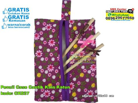 Pouch Kosmetik Blacu Kanvas Tempat Pensil Totebag Blacu Dompet 3 pencil pouch souvenir pernikahan