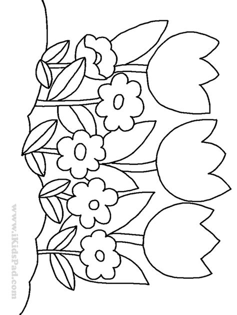plants coloring pages preschool row of tulip flowers coloring pages for kids coloring