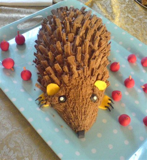 quirky gravy boat grazing kate chocolate hedgehog cake for son s 10th