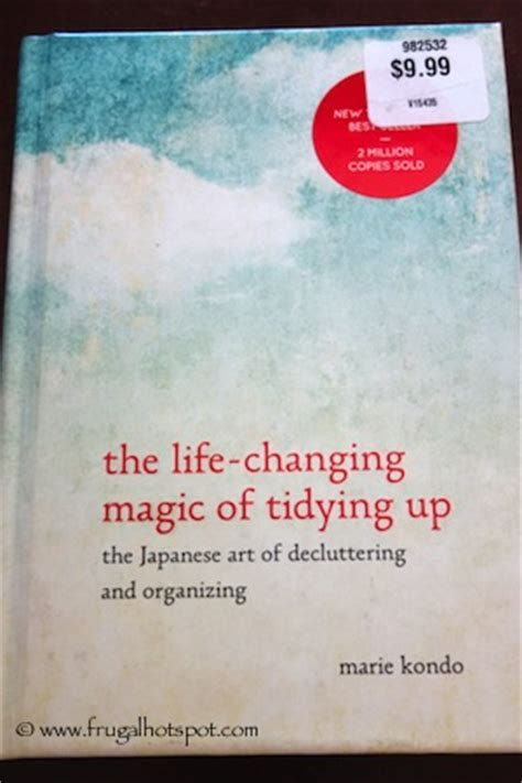 The Changing Magic Of Tidying Up Kondo Berkualitas costco books the changing magic of tidying up 9 99 frugal hotspot