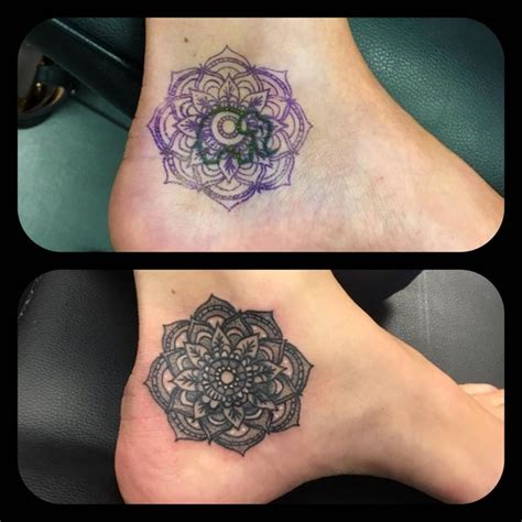 ankle tattoo cover up designs 67 best mandala pattern work dot shade images on