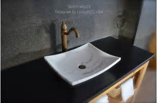 Marble Bathroom Vanity Tops 18 Quot White Marble Vessel Sink Natural Stone Tahiti White