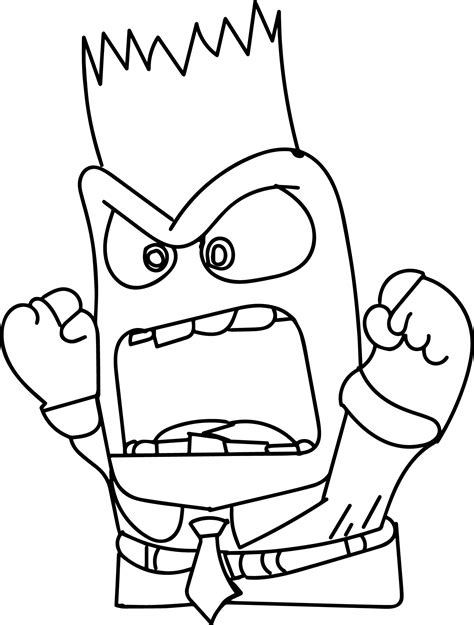 inside out anger coloring page inside out coloring pages sketch coloring page
