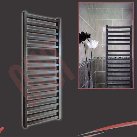 wall hung radiators modern black designer heated towel rail radiators vlves wall