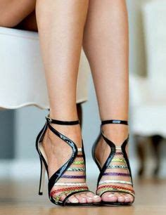 High Heels Lv Sp050 Promo the color combo is amazing coffee heeled sandals